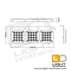 ไฟท้าย LED jcm 3 ตอน 3