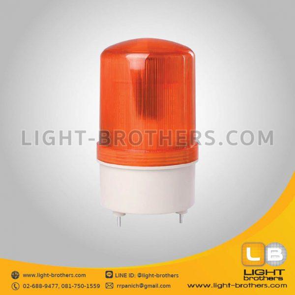ไฟไซเรน LED กลม 4 นิ้ว แบบมีเสียงเตือน สีส้ม