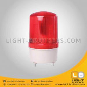 ไฟไซเรน LED กลม 4 นิ้ว แบบมีเสียงเตือน สีแดง