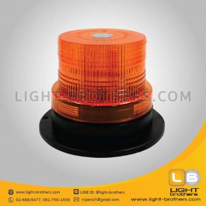 ไฟไซเรน LED กลม 5 นิ้ว สีเหลือง