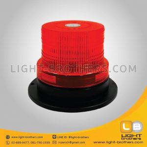 ไฟไซเรน LED กลม 5 นิ้ว สีแดง