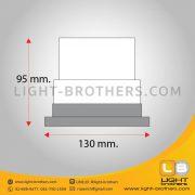 ไฟไซเรน LED กลม 5 นิ้ว ไม่แตก