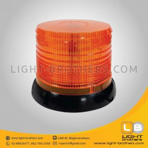 ไฟไซเรน LED กลม 6.5 นิ้ว สีเหลือง