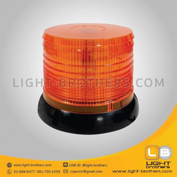ไฟไซเรน LED ติดรถยนต์ กลม 6.5 นิ้ว สีเหลือง