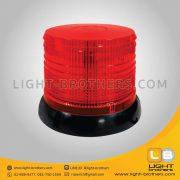 ไฟไซเรน LED ติดรถยนต์ กลม 6.5 นิ้ว สีแดง