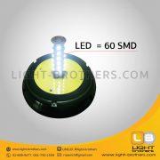 ไฟไซเรน LED ติดรถยนต์ กลม 6.5 นิ้ว 60 SMD
