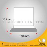ไฟไซเรน LED กลม 6.5 นิ้ว ขนาด