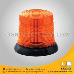 ไฟไซเรน LED กลม ฐาน 6.5 นิ้ว สีส้ม