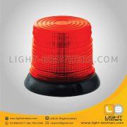 ไฟไซเรน LED กลม ฐาน 6.5 นิ้ว สีแดง
