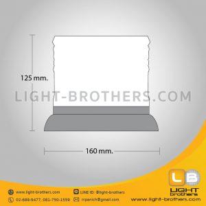 ไฟไซเรน LED กลม ฐาน 6.5 นิ้ว ขนาด
