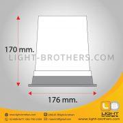 ไฟไซเรน LED แบบ 3 ฟังก์ชั่น กลม 7 นิ้ว ขนาด