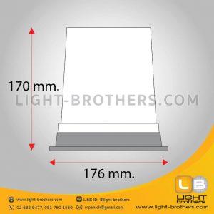 ไฟไซเรน LED กลม 7 นิ้ว ขนาด