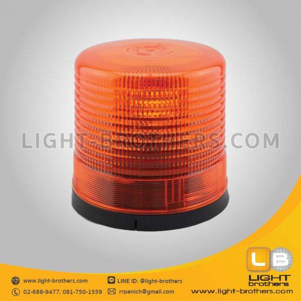 ไฟไซเรน แบบหมุน กลม 9 นิ้ว 1 ฟังก์ชั่น สีส้ม