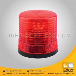 ไฟไซเรน แบบหมุน กลม 9 นิ้ว 1 ฟังก์ชั่น สีแดง