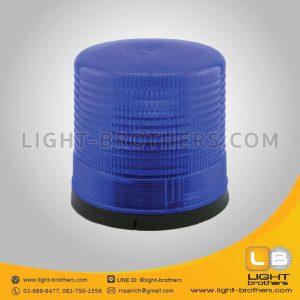 ไฟไซเรน แบบหมุน กลม 9 นิ้ว 1 ฟังก์ชั่น สีน้ำเงิน