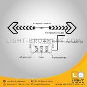 ไฟลูกศร LED ติดท้ายรถ การติดตั้ง