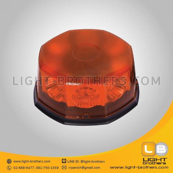 ไฟไซเรน LED 8 เหลี่ยม สีส้ม