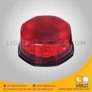 ไฟไซเรน LED 8 เหลี่ยม สีแดง