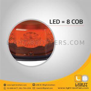 ไฟไซเรน LED 8 เหลี่ยม 8 COB