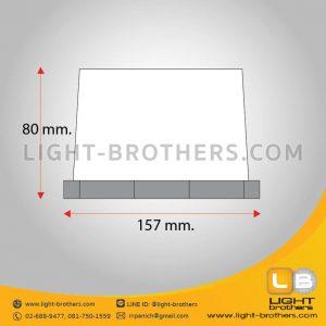 ไฟไซเรน LED 8 เหลี่ยม ขนาด