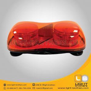ไฟไซเรน LED รูปถั่ว - แบบ 2 ฟังก์ชั่น สีส้ม