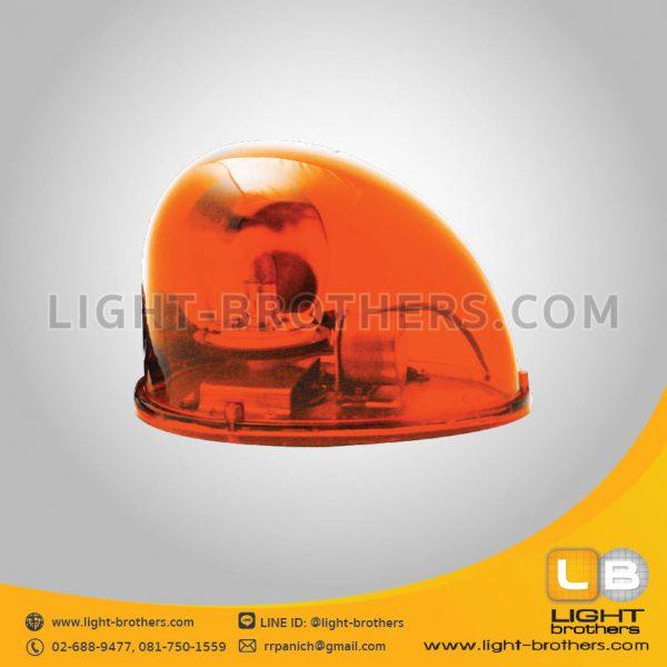 ไฟไซเรน แบบหมุด ทรงหยดน้ำ 1 ฟังก์ชั่น สีส้ม