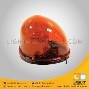 ไฟไซเรน LED ทรงหยดน้ำ - แบบ 3 ฟังก์ชั่น สีส้ม