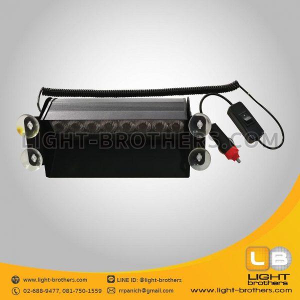 ไฟไซเรน LED ติดกระจกรถยนต์ สีแดง+น้ำเงิน