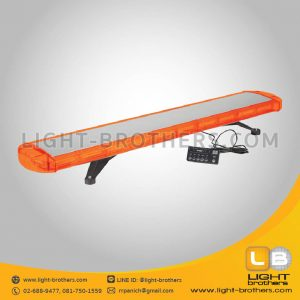 ไฟไซเรน LED ทรงยาว แบบ 10 ตอน สีส้ม