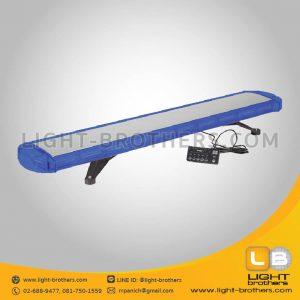 ไฟไซเรน LED ทรงยาว แบบ 10 ตอน สีน้ำเงิน