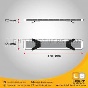ไฟไซเรน LED ทรงยาว แบบ 10 ตอน ขนาด