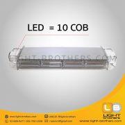 ไฟไซเรน LED ทรงยาว 4 ตอน 10 COB